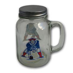 New England Patriots Throwback Mason Jar