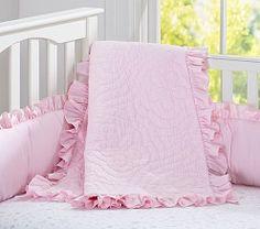 Baby Girl Nursery Bedding, Crib Bedding for Girls   Pottery Barn Kids: SADIE