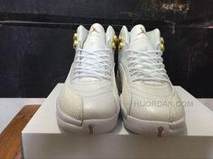 "724f657a5ae Air Jordan 12 ""OVO"" PEs White Metallic Gold-White"
