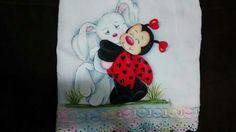 Pintura em fralda by Marli Vieira