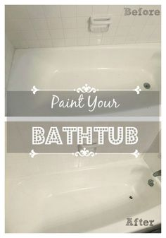 Paint a tub?  Sounds crazy, right?  Well, I did it! [media_id:3105664] I used Rustoleum Tub and Tile to resurface the tub.  It's a two part epoxy that you paint…