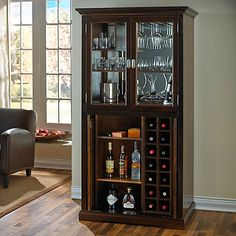 Wine Enthusiast Firenze Wine and Spirits Armoire Bar