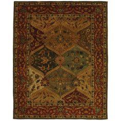 Safavieh Handmade Heritage Traditional Kerman Burgundy Wool Rug (8'3 x 11') | Overstock.com Shopping - The Best Deals on 7x9 - 10x14 Rugs