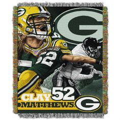 Use this Exclusive coupon code: PINFIVE to receive an additional 5% off the Clay Matthews  Green Bay Packers Players Throw at SportsFansPlus.com