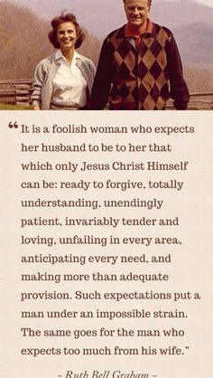 Expectations of your spouse.  Such a valuable piece of advice!  Learn & apply it early - you'll both be happier!
