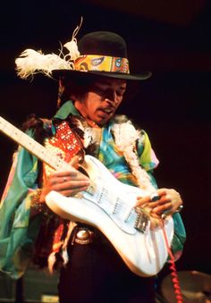 Jimi Hendrix, Royal Albert Hall, February 18 1969, by Graham F. Page (my edit)