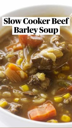 Beef Stew Crockpot Easy, Beef Soup Recipes, Crockpot Dishes, Slow Cooker Soup, Healthy Soup Recipes, Crock Pot Cooking, Cooking Recipes, Crockpot Recipes, Slowcooker Beef Stew