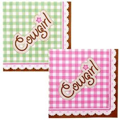 Perfect party napkins for a Sheriff Callie theme!