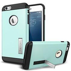 iPhone 6 Plus Case, Spigen® [KICK-STAND] iPhone 6 Plus (5.5) Case Protective [Slim Armor] [Mint] Slim Fit Dual Layer Protective Case Advanced Shock Absorption Protection with Kick-Stand Feature for iPhone 6 Plus (5.5) (2014) - Mint (SGP10906) Spigen http://www.amazon.com/dp/B00JH83EHC/ref=cm_sw_r_pi_dp_jexeub1CF3TQB