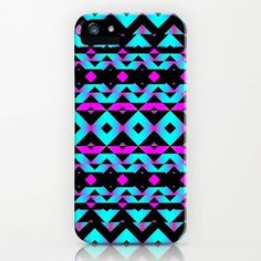 Turquoise, Purple, and Black