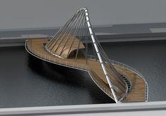 En mayo de 2011 se convocó un concurso de ideas para la ejecución de un puente sobre el río Arno, en FiglineValdarno,pocos kilómetros al sur de Florencia (Italia). El mes pasado se conoció el fal… Bridges Architecture, Bamboo Architecture, Concept Architecture, Futuristic Architecture, Amazing Architecture, Architecture Design, Bridge Model, Bridge Structure, Arch Bridge