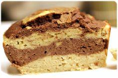 Marmorkake med banan og sjokolade