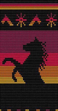 Mochila paardentas Tapestry Crochet Patterns, Crochet Quilt, Crochet Stitches Patterns, Crochet Chart, Cross Stitch Patterns, Knitting Patterns, Loom Bracelet Patterns, Bead Loom Patterns, Beading Patterns