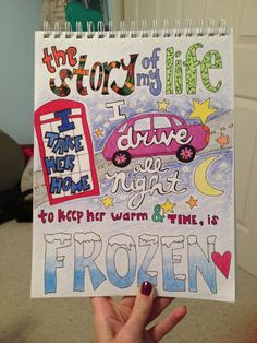Cute One Direction Poster Ideas | My lyric drawing of Story Of My Life ☺