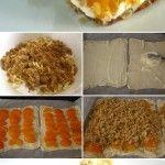 Peach almond crumble tart
