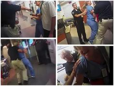 THE COPS AN IDIOT! SHOULD BE FIRED, HE N THE DEPT SUED. 'This is crazy,' sobs Utah hospital nurse as cop roughs her up, arrests her for doing her job