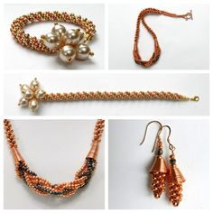 Instructions for metal seed bead kumihimo designs. These were demonstrated by Pru McRae on Jewellery Maker on Wire Wrapped Jewelry, Beaded Jewelry, Handmade Jewelry, Beaded Bracelets, Necklace Designs, Seed Beads, Jewelry Design, Jewelry Making, Jewellery Maker