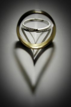 Wedding ring hearts...