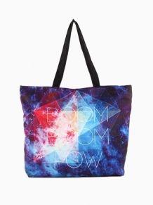 Boom Boom Pow Tote Bag In Galaxy Print