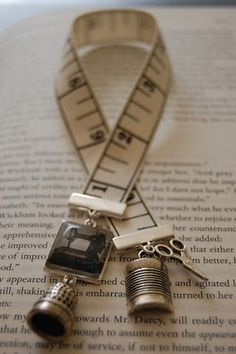 Adorable bookmark for someone who sews.