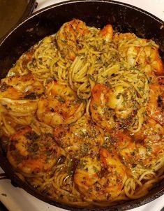 Cajun Shrimp Scampi Recipe, Shrimp Scampi Ingredients, Garlic Shrimp Pasta, Grilled Shrimp, Cajun Seafood Boil, Shrimp Scampi Pasta, Chicken Pasta, Sheimp Pasta, Shrimp Pasta Bake
