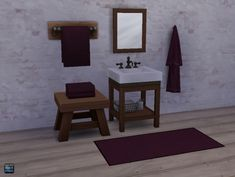 Sims 4 Studio: Bath Linens in CuriousB Colors • Sims 4 Downloads
