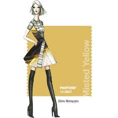 PANTONE Fashion Color Report – Fall 2014 – Misted Yellow – Bibhu Mohapatra
