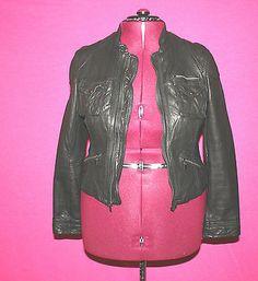 Saks Fifth Ave 5 48 Black Soft Leather Jacket Size XL | eBay