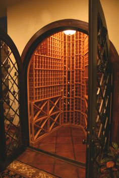 wine room-beautiful doors