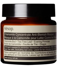 This Aesop Chamomile Concentrate Anti-Blemish Masque deeply cleanses the face and absorbs excess oils.