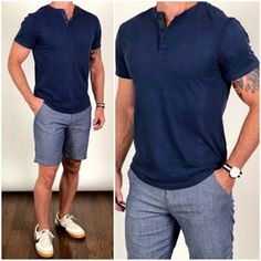 194 must have casual shirts for the summer – page 1 Formal Men Outfit, Casual Summer Outfits, Short Outfits, Blue Outfits, Woman Outfits, Trendy Outfits, Wearing All Black, All Black Outfit, Stylish Men