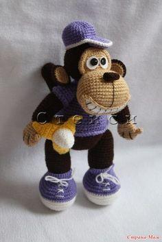 Еще одна моя авторская обезьяна, но немного в другом цвете Описание прикрепляю