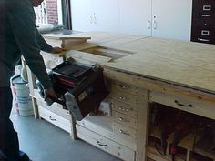 Super Convertible Workbench - this is a whole shop in a bench. Brilliant storage of unnecessary items but easy access to all equipment when you do need it.