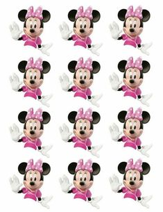 topo de bolo minnie para imprimir Minnie Mouse Cupcake Toppers, Minnie Mouse Birthday Decorations, Minnie Mouse Baby Shower, Minnie Mouse Pink, Mickey Mouse Birthday, Mickey Minnie Mouse, Minnie Mouse Pictures, Mickey Mouse Images, Mickey Party