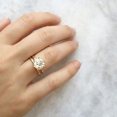 Perhaps with a platinum band on the diamond and a 4 prong setting and gold/rose gold for the wedding band. ct Old European Cut Solitaire Engagement Ring Engagement Solitaire, Antique Engagement Rings, Wedding Engagement, Wedding Bands, Solitaire Diamond, Diamond Rings, Solitaire Setting, Wedding Ring, Indian Engagement