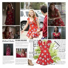 """""""Holland Roden as Lydia Martin. { Teen Wolf - 5.06 Required Reading }"""" by albacampbell ❤ liked on Polyvore"""