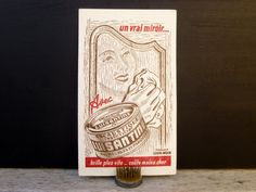 Buvard publicitaire illustré vintage par LeGrenierDeFrancine