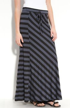 Mileo Striped Maxi Skirt