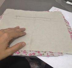 cb019b4c45 Passo a passo como fazer Bolsa de Tecido