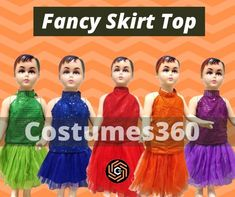 Best Green Skirt top for party wear on rent only.Get off on all prepaid orders. Butterfly Fancy Dress, Fish Fancy Dress, Fancy Dress Store, Fancy Dress Online, Fancy Skirts, Red Skirts, Dress Stores Near Me, Dresses Near Me, Dance Dresses