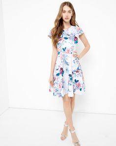5a58e660ff7b Acanthus Scroll skater dress - Light Pink | Dresses | Ted Baker Prom  Dresses Blue,