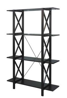 Use open bookcases like this one from Linon to separate open spaces or create a junior bedroom in a studio!
