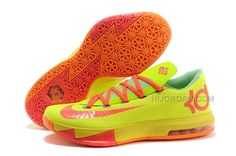 "new style b5422 a3bed Nike Kevin Durant KD 6 VI ""Drew League"" PE Yellow Pink Orange For Sale,  Price   83.00 - Air Jordan Shoes, Michael Jordan Shoes"
