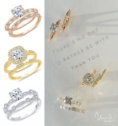 The Us Collection of unique, unconventional, fashion-forward wedding sets is the latest addition to Uneek Jewelry's ever-growing engagement and wedding jewelry portfolio; all styles from the Us Collection are available in three metal colors; Wedding Sets, Wedding Bands, Fashion Rings, Fashion Jewelry, Engagement Ring Styles, Brilliant Diamond, Modern Jewelry, Jewelery, Gold Jewellery