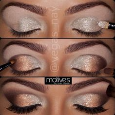 simple sparkle eye shadow