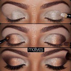 simple sparkle eye shadow