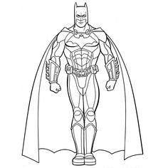 Coloring Page Batman Superheroes 1