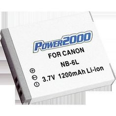 Power2000 ACD-291 Rechargeable Battery for Canon NB-6L - For Sale Check more at http://shipperscentral.com/wp/product/power2000-acd-291-rechargeable-battery-for-canon-nb-6l-for-sale-2/