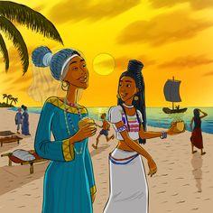 The African Princess! Princess Halima visting The Gambia.
