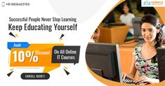 Learning must never stop. Self-growth is the key to living a fulfilling life and having a successful career. Get 10% off on all our IT courses online! Grab the offer now! #OnlineITCourses #OnlineITTraining #LearnFromHome #OnlineITTrainingInstitute #KarmickInstitute Seo Digital Marketing, Never Stop Learning, Career Opportunities, Training Courses, Successful People, Online Courses, Web Design, Key, Education